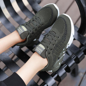 Women's Camouflage Breathable Large Size Lightweight Army Green Sneakers
