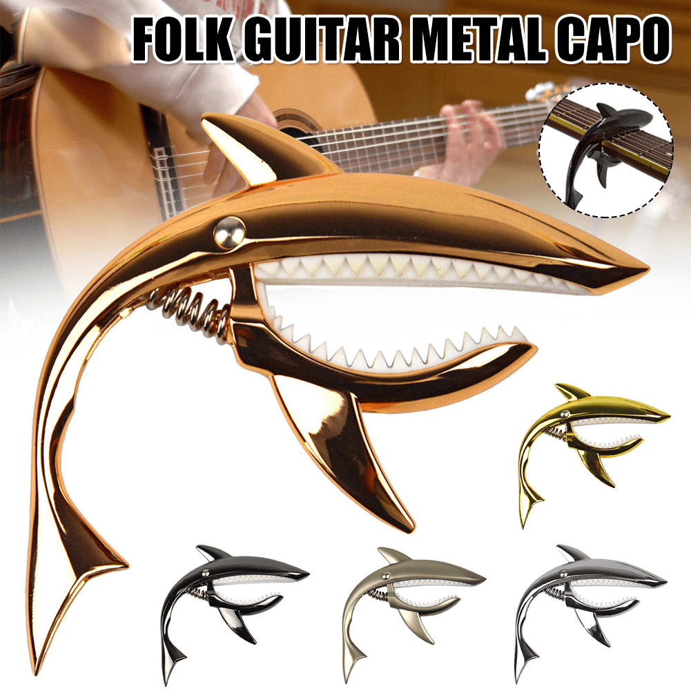 Folk guitar string clamp