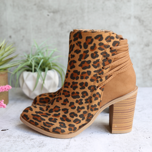 Final Sale - Very Volatile - Lace Women's Boots in Tan/Leopard