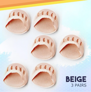 Honeycomb Fabric Forefoot Pads - 3 Pairs