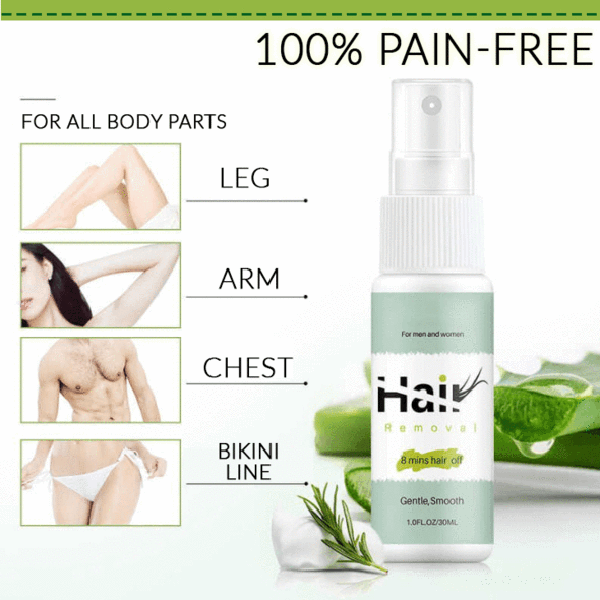 Natural Permanent Hair Removal Spray