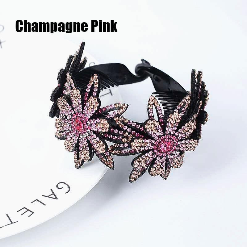 Rhinestone Hair Bun Claws Holders (2 PCS)