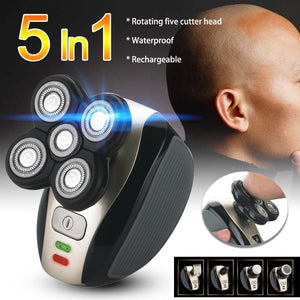 5 In 1 Electric Hair Razor For Men Bald Head Shaver