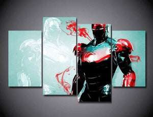 Multi Panel Ironman Split Grouped Wall Canvas Art
