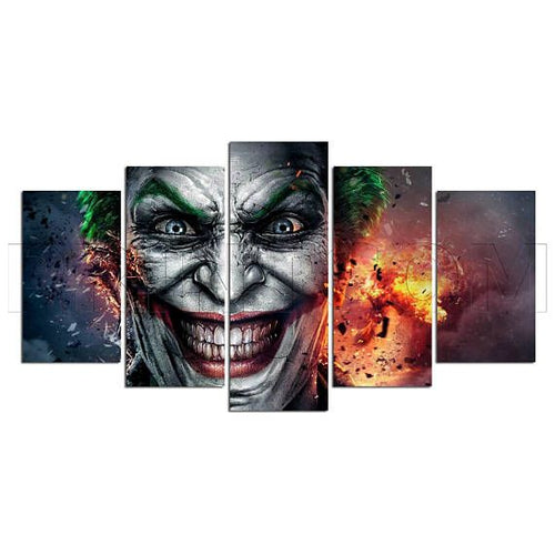Multi Panel Joker Split Grouped Wall Canvas Art