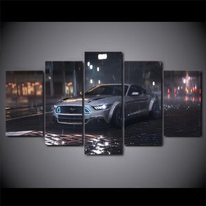 Multi Panel Sport Car Split Grouped Wall Canvas Art