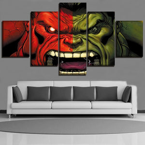 Multi Panel The Incredible Hulk Split Grouped Wall Canvas Art