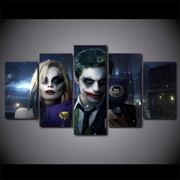 Multi Panel The Joker Split Grouped Wall Canvas Art