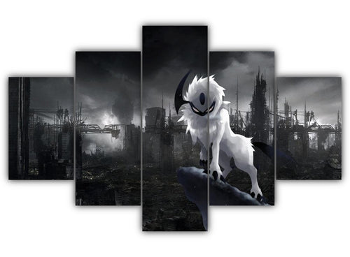 Multi Panel Angry Absol Split Grouped Wall Canvas Art