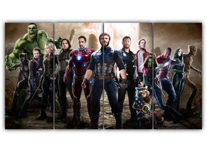 Multi Panel Avengers Split Grouped Wall Canvas Art