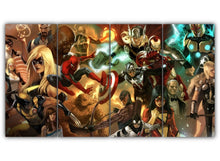 Load image into Gallery viewer, Multi Panel Avengers Split Grouped Wall Canvas Art