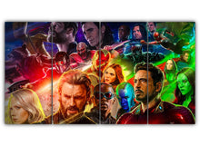 Load image into Gallery viewer, Multi Panel Avengers Infinity War Split Grouped Wall Canvas Art