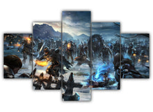 Load image into Gallery viewer, Multi Panel Battle Of The Fist Split Grouped Wall Canvas Art