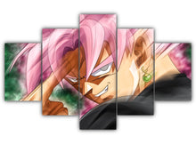 Load image into Gallery viewer, Multi Panel Black Goku Instant Transmission Split Grouped Wall Canvas Art