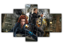 Load image into Gallery viewer, Multi Panel Black Widow And Hawkeye Split Grouped Wall Canvas Art