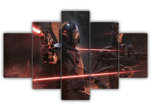 Multi Panel Bounty Hunters Split Grouped Wall Canvas Art
