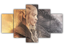 Load image into Gallery viewer, Multi Panel Daenerys And Drogon Split Grouped Wall Canvas Art