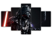 Load image into Gallery viewer, Multi Panel Darth Vader Split Grouped Wall Canvas Art