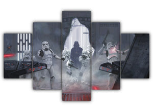 Multi Panel Darth Vader Split Grouped Wall Canvas Art