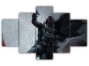 Multi Panel Darth Vader Dying Split Grouped Wall Canvas Art