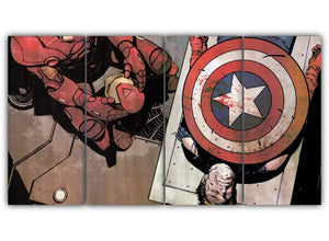 Multi Panel Death Of Captain America Split Grouped Wall Canvas Art