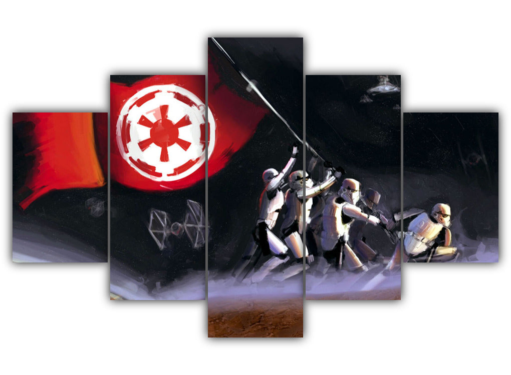 Multi Panel Dominance Of Galactic Empire Split Grouped Wall Canvas Art