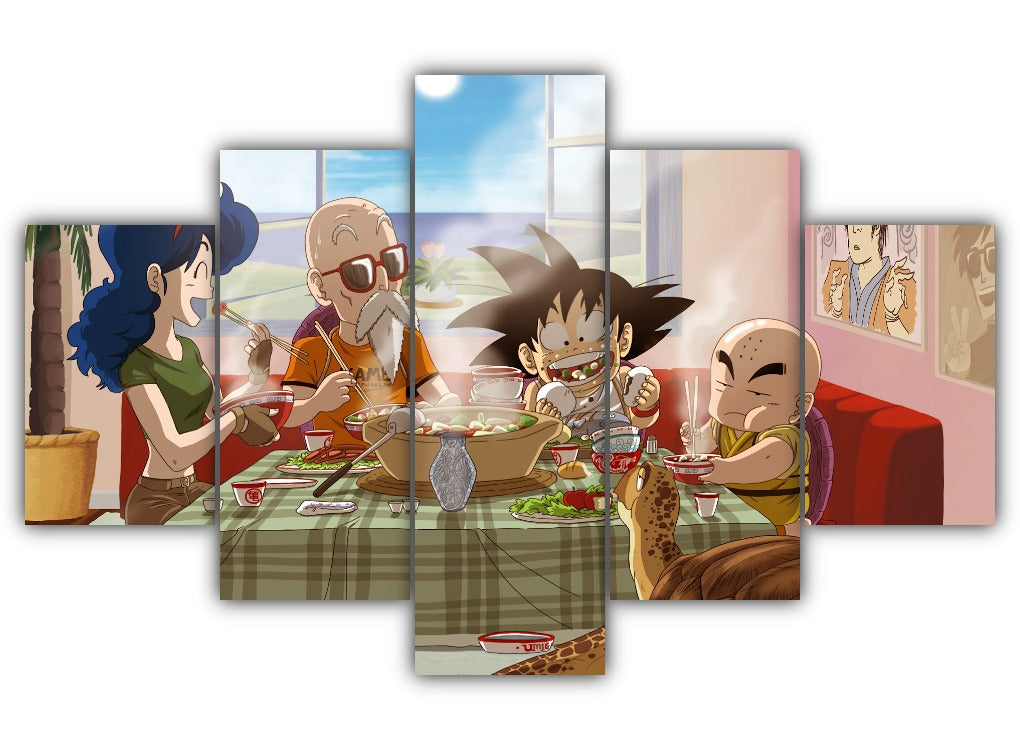 Multi Panel Dragon Ball Split Grouped Wall Canvas Art