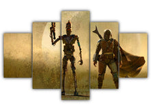 Load image into Gallery viewer, Multi Panel Droid and Mando Split Grouped Wall Canvas Art