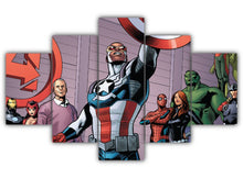 Load image into Gallery viewer, Multi Panel Falcon Captain America Split Grouped Wall Canvas Art