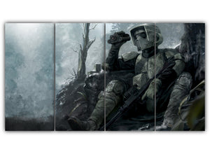 Multi Panel Forest Trooper Split Grouped Wall Canvas Art