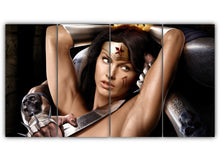 Load image into Gallery viewer, Multi Panel Wonder Woman Split Grouped Wall Canvas Art