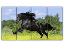 Load image into Gallery viewer, Galloping Black Horse