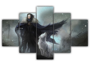 Multi Panel Ghost And His Master Split Grouped Wall Canvas Art