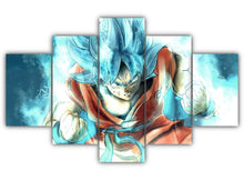 Load image into Gallery viewer, Multi Panel Goku SSJ Blue Split Grouped Wall Canvas Art