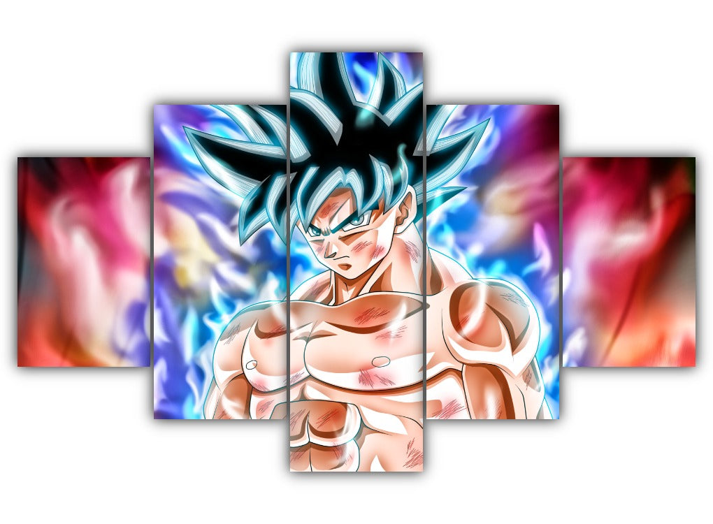 Multi Panel Goku Ultra Instinct Split Grouped Wall Canvas Art