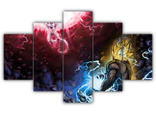 Load image into Gallery viewer, Multi Panel Goku Vs Frieza Split Grouped Wall Canvas Art