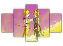 Load image into Gallery viewer, Multi Panel Goku and Bardock Split Grouped Wall Canvas Art