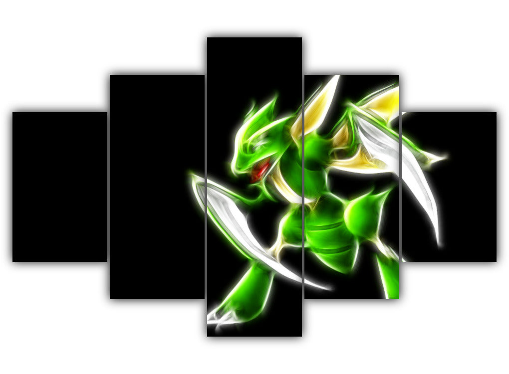 Multi Panel Grass type Scyther Split Grouped Wall Canvas Art