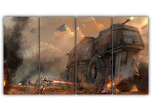 Load image into Gallery viewer, Multi Panel Ground Assault Split Grouped Wall Canvas Art
