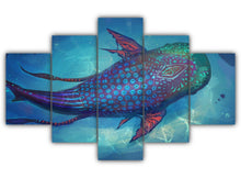 Load image into Gallery viewer, Multi Panel Hybrid Whale Split Grouped Wall Canvas Art