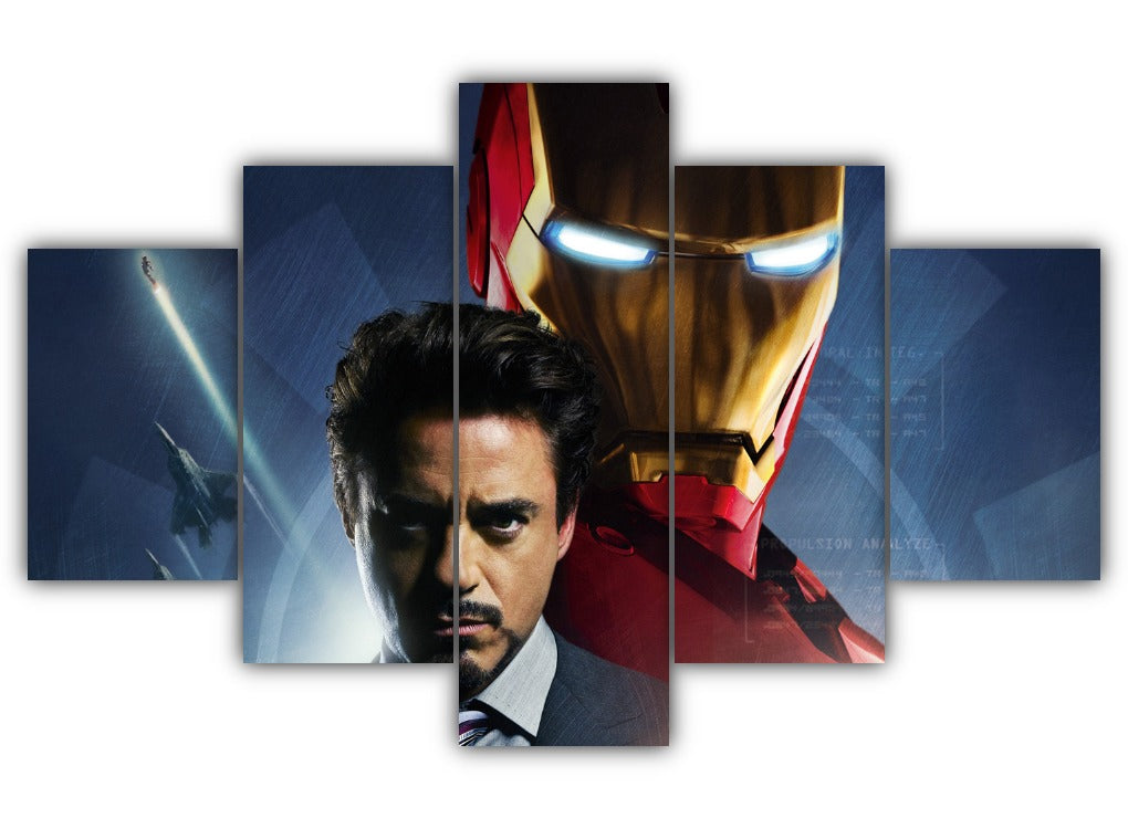 Multi Panel Iron Man Split Grouped Wall Canvas Art