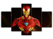 Load image into Gallery viewer, Multi Panel Iron Man Split Grouped Wall Canvas Art