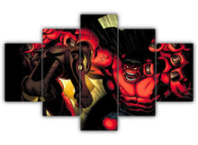 Load image into Gallery viewer, Multi Panel Iron Man and Hulk Split Grouped Wall Canvas Art