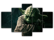 Load image into Gallery viewer, Multi Panel Jedi Master Yoda Split Grouped Wall Canvas Art