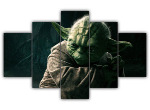 Multi Panel Jedi Master Yoda Split Grouped Wall Canvas Art