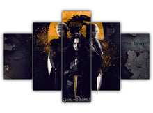Load image into Gallery viewer, Multi Panel Jon Cersei and Daenerys Split Grouped Wall Canvas Art