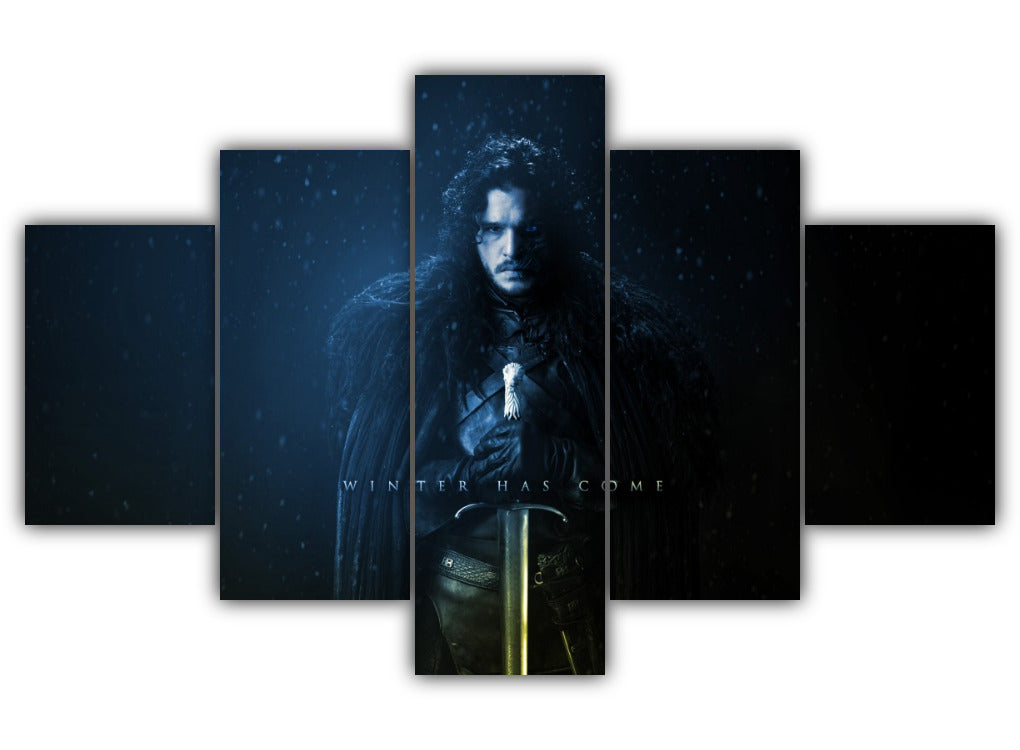 Multi Panel Jon Snow Split Grouped Wall Canvas Art