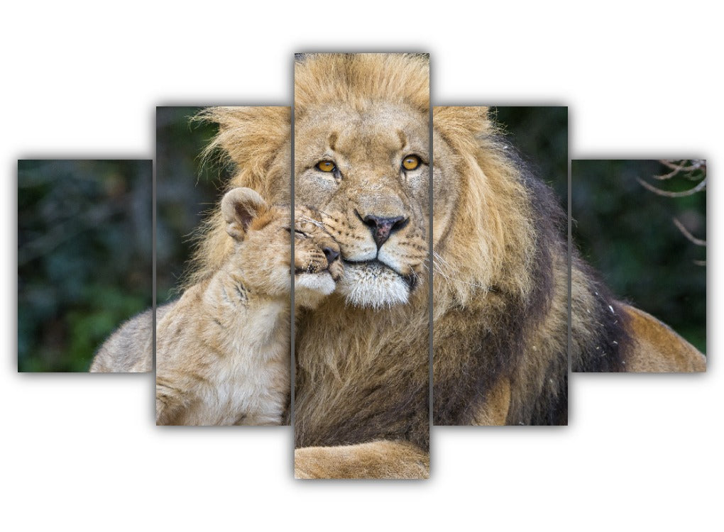 Multi Panel King and Prince Split Grouped Wall Canvas Art