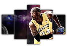 Load image into Gallery viewer, Multi Panel Kobe Bryant Split Grouped Wall Canvas Art