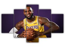 Load image into Gallery viewer, Multi Panel LeBron James Split Grouped Wall Canvas Art